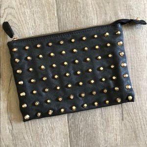 Zara Studded Zip Clutch